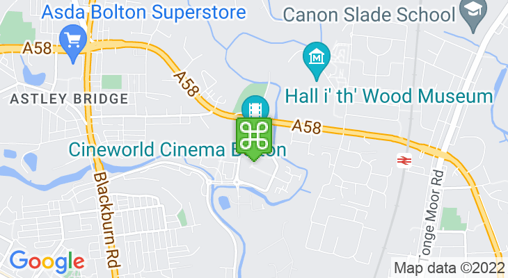 Map showing location of Cineworld Bolton