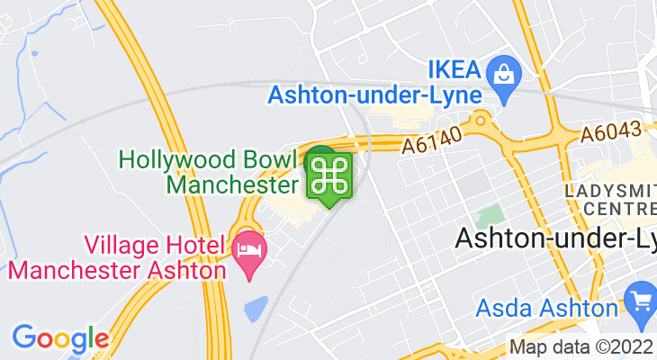 Map showing location of Cineworld Ashton-under-Lyne