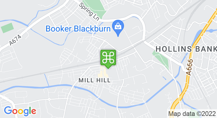 Map showing location of Mill Hill Train Station