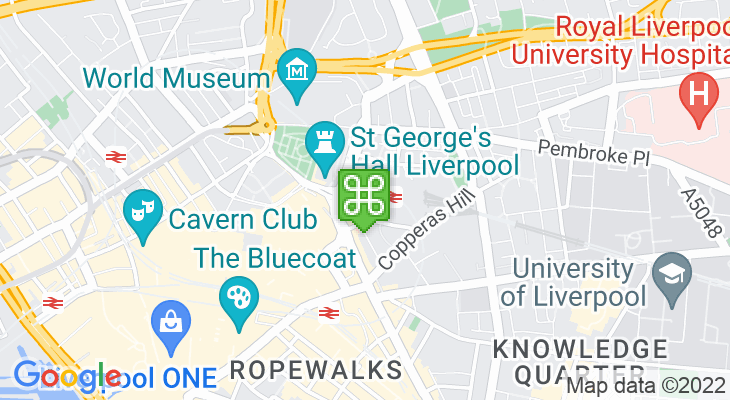 Map showing location of Liverpool Lime Street