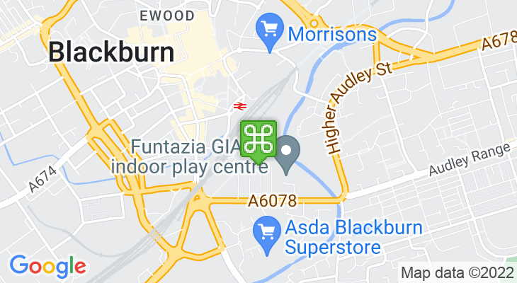 Map showing location of Vue Cinema Blackburn