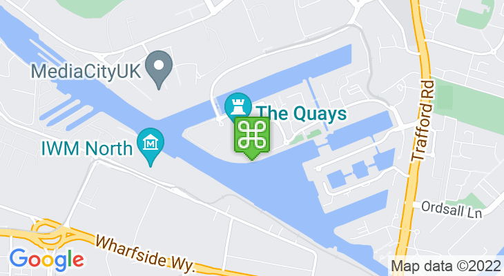 Map showing location of Vue Lowry Manchester