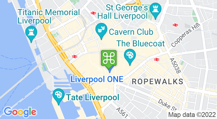 Map showing location of Odeon Liverpool ONE