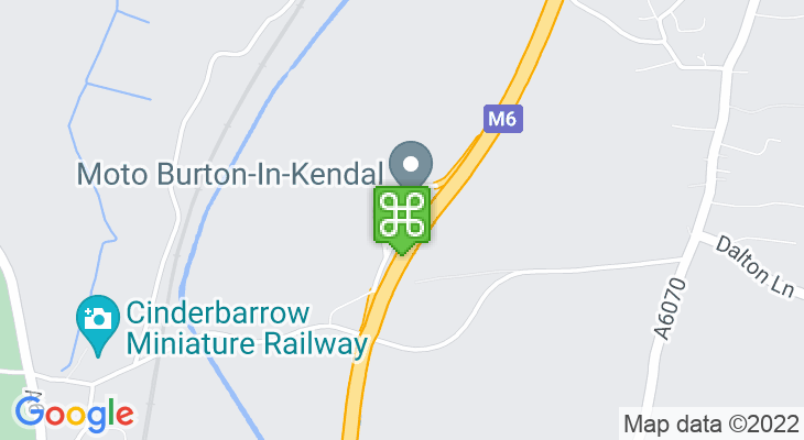 Map showing location of Burton-In-Kendal Services