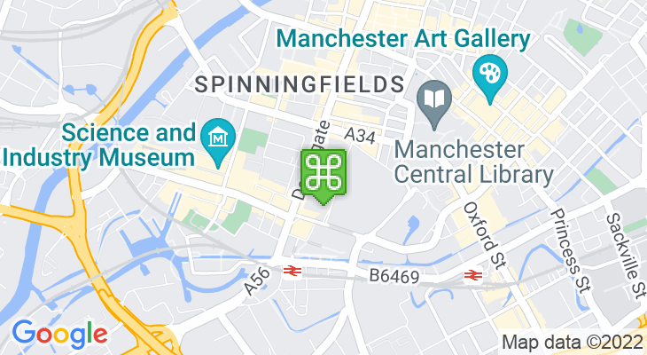 Map showing location of Odeon Manchester Great Northern