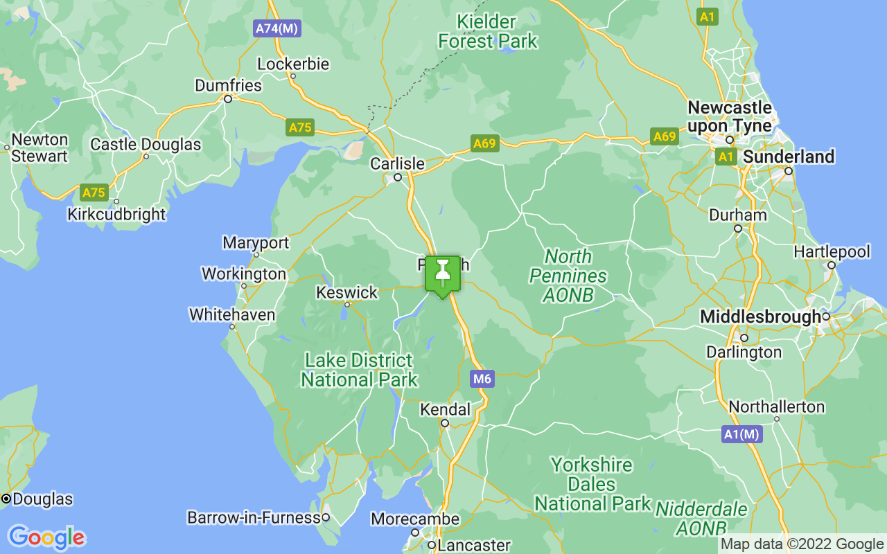 Map showing location of Penrith