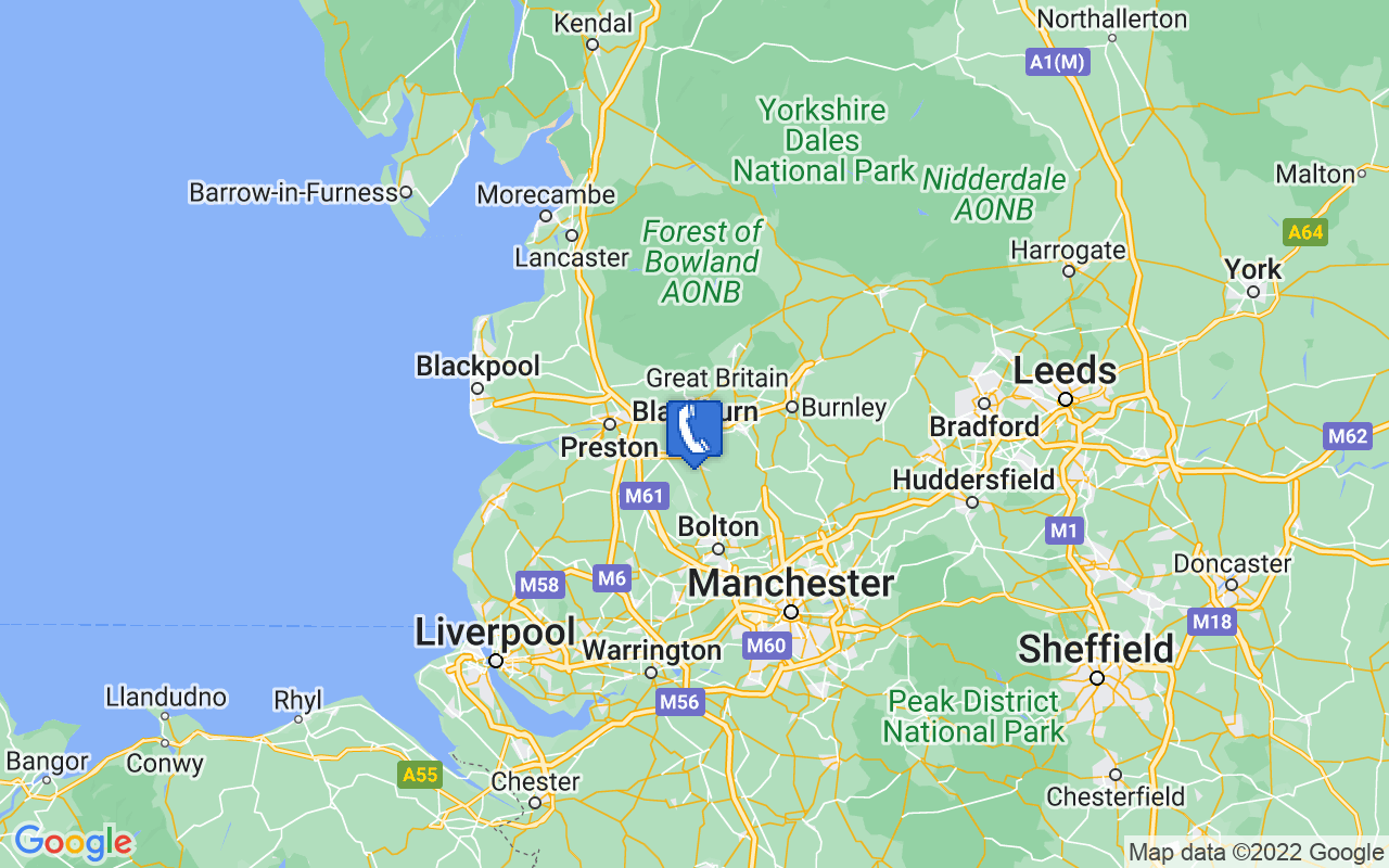 Map showing location of Blackburn