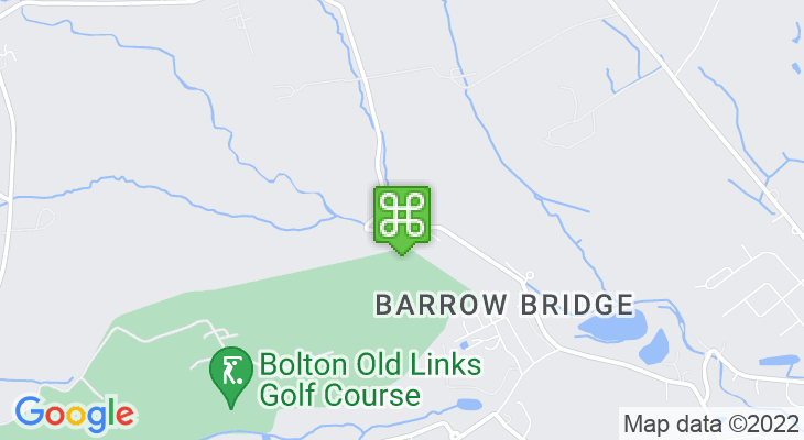 Map showing location of Barrow Bridge Village