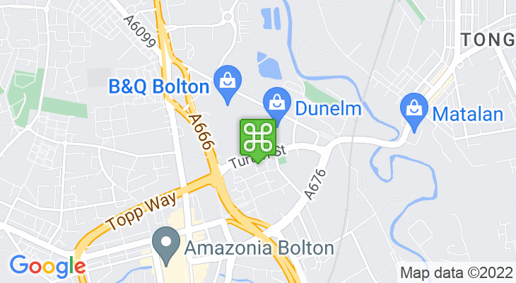 Map showing location of Bolton Gate Retail Park