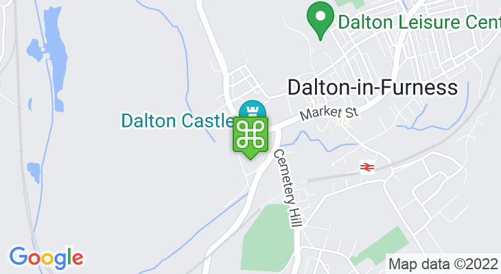 Map showing location of Dalton Castle