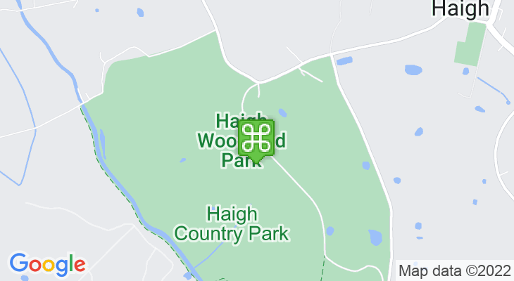 Map showing location of Haigh Hall and Haigh Country Park