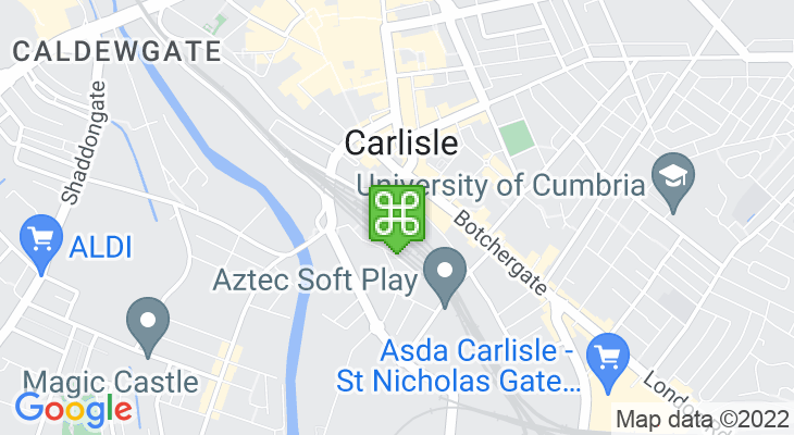 Map showing location of Settle to Carlisle Railway