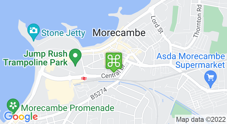 Map showing location of Morecambe Arndale