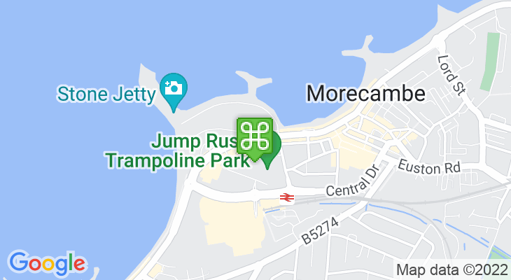 Map showing location of Morecambe Promenade