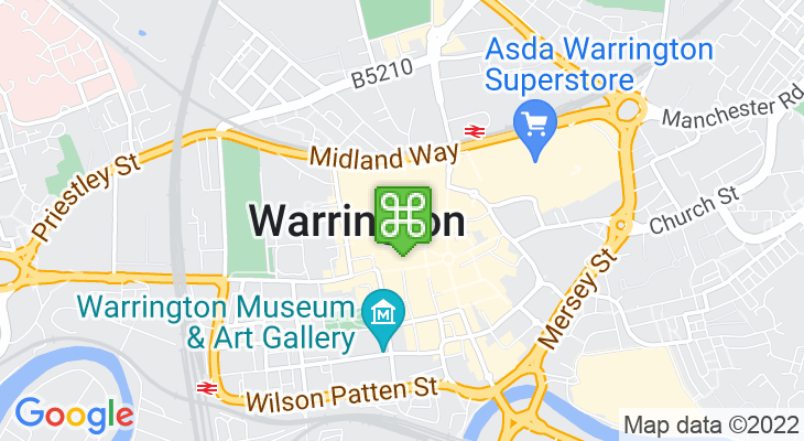 Map showing location of Golden Square