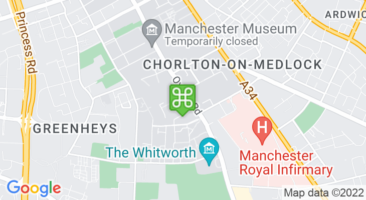 Map showing location of Manchester Academy