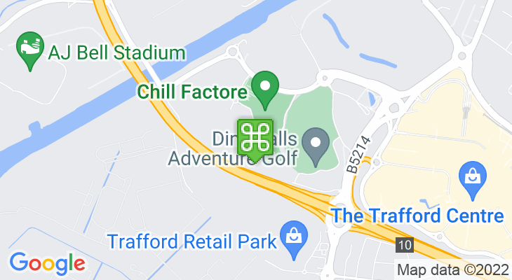 Map showing location of Chill Factore – Skiing in Manchester