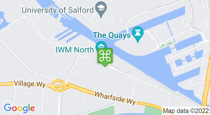 Map showing location of Imperial War Museum North