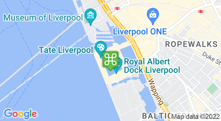 Map showing location of Albert Dock