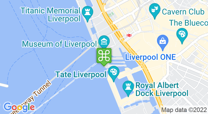 Map showing location of Museum of Liverpool