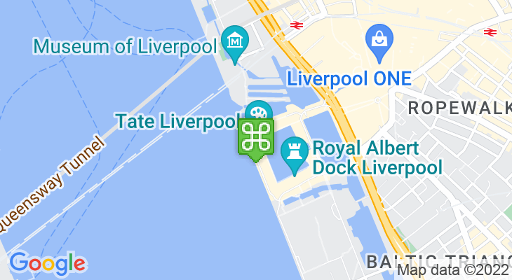 Map showing location of Tate Liverpool