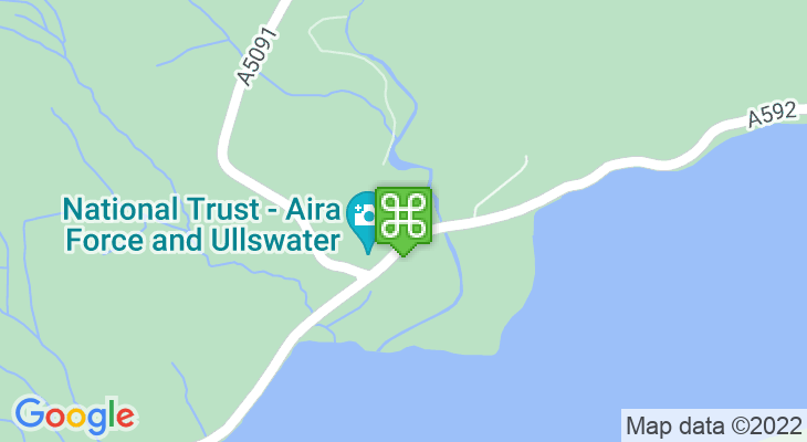Map showing location of Aira Force