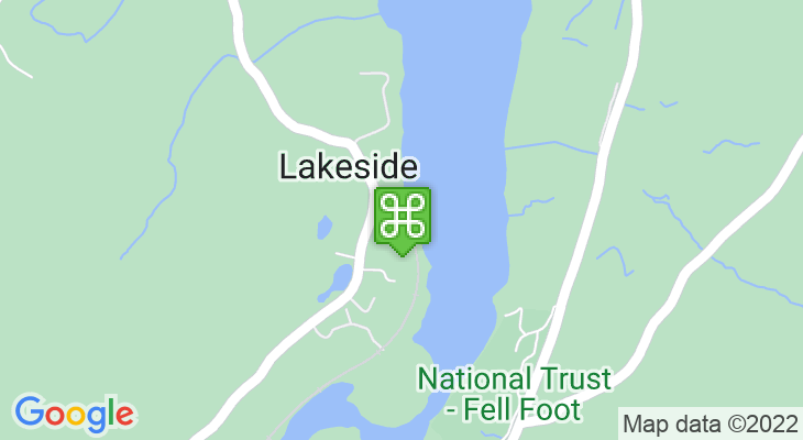 Map showing location of Lakes Aquarium