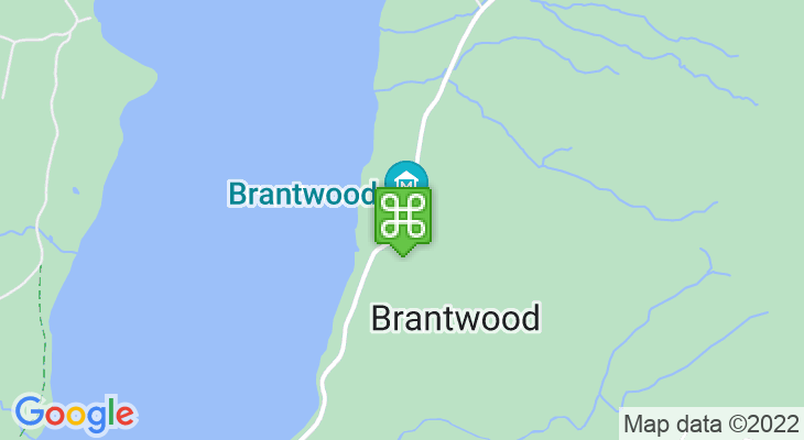 Map showing location of Brantwood