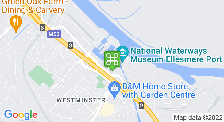 Map showing location of National Waterways Museum