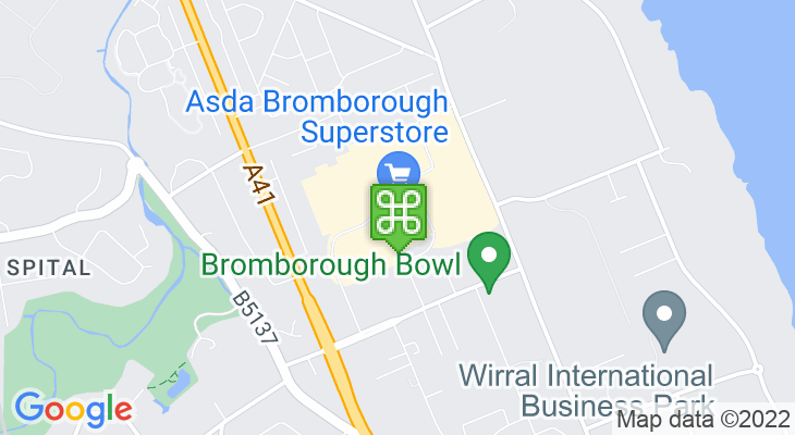 Map showing location of Croft Retail and Leisure Park
