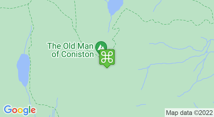 Map showing location of Old Man of Coniston