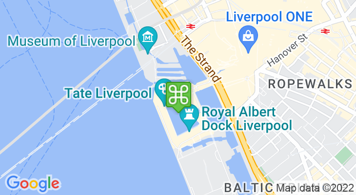 Map showing location of Merseyside Maritime Museum