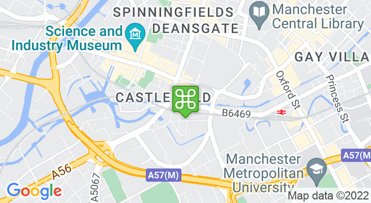 Map showing location of Comedy Store Manchester