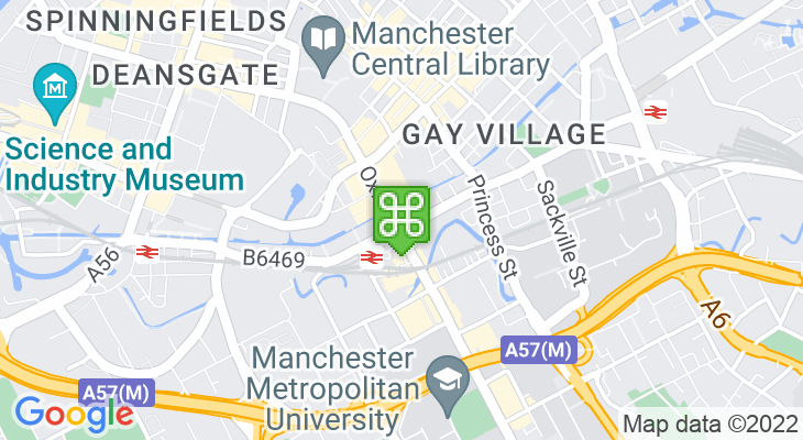 Map showing location of Palace Theatre Manchester