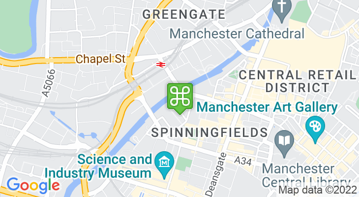 Map showing location of People's History Museum