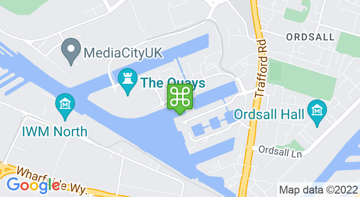 Map showing location of Salford Watersports Centre