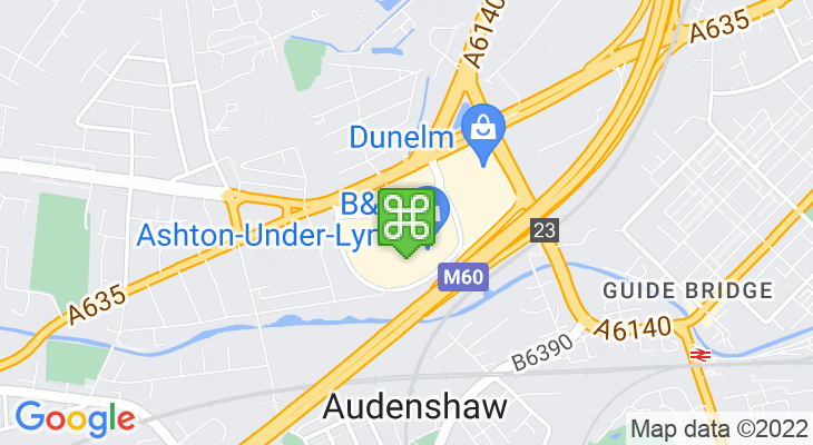 Map showing location of Snipe Retail Park