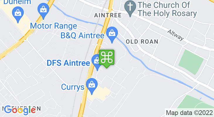 Map showing location of Aintree Shopping Park