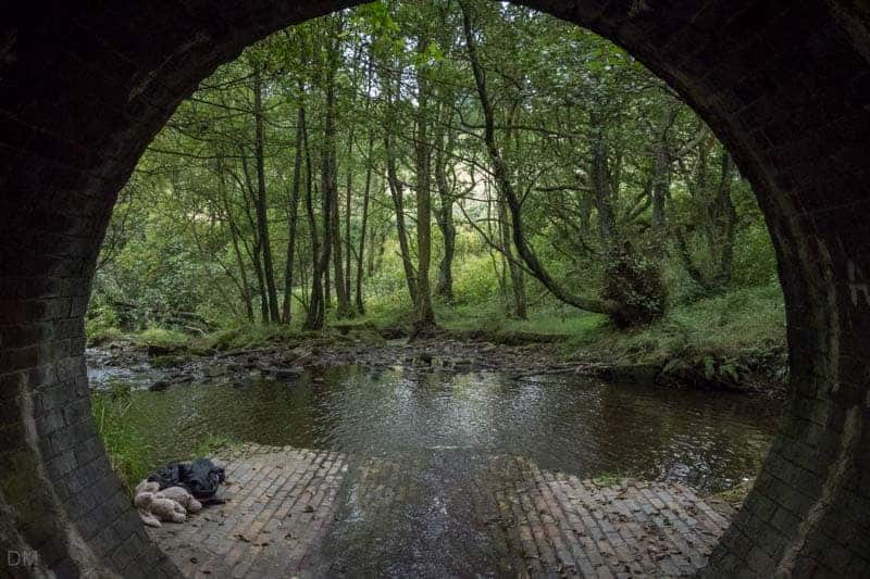 View from the 'Cigarette Tunnel' under Walker Fold Road,/Colliers Row, Bolton