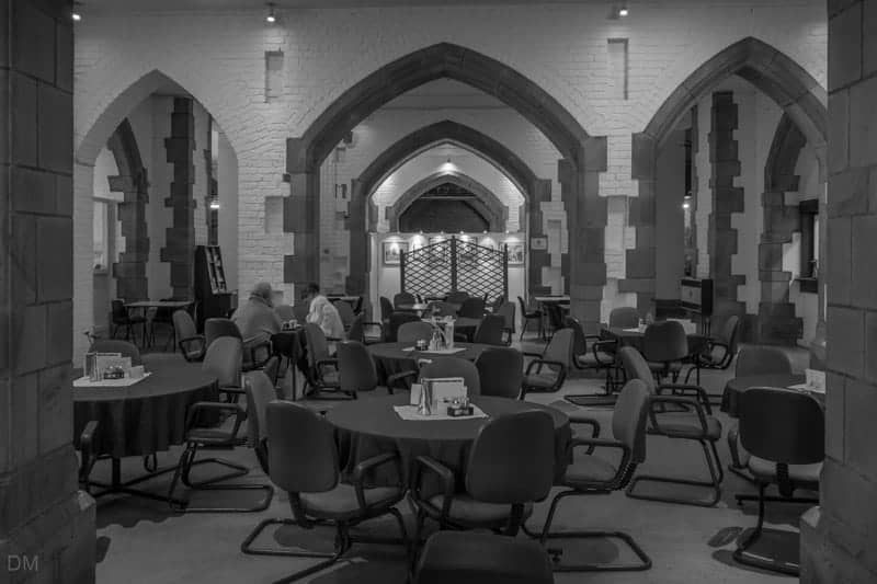 Cafe in the Crypt underground restaurant at Blackburn Cathedral