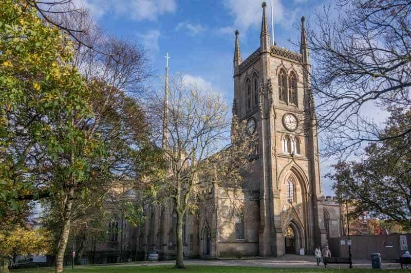 Exterior photo of Blackburn Cathedral in Blackburn, Lancashire
