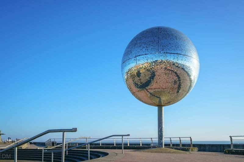 They Shoot Horses, Don't They? Mirror ball sculpture by Michael Trainor, Blackpool.