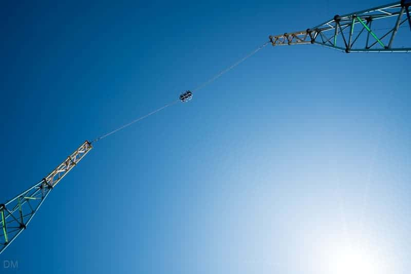Skyscreamer reverse bungee jump at South Pier Blackpool