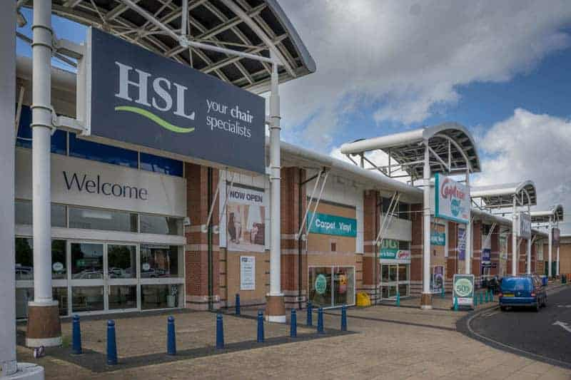 HSL, Carpetright, and JYSK at Bolton Gate Retail Park