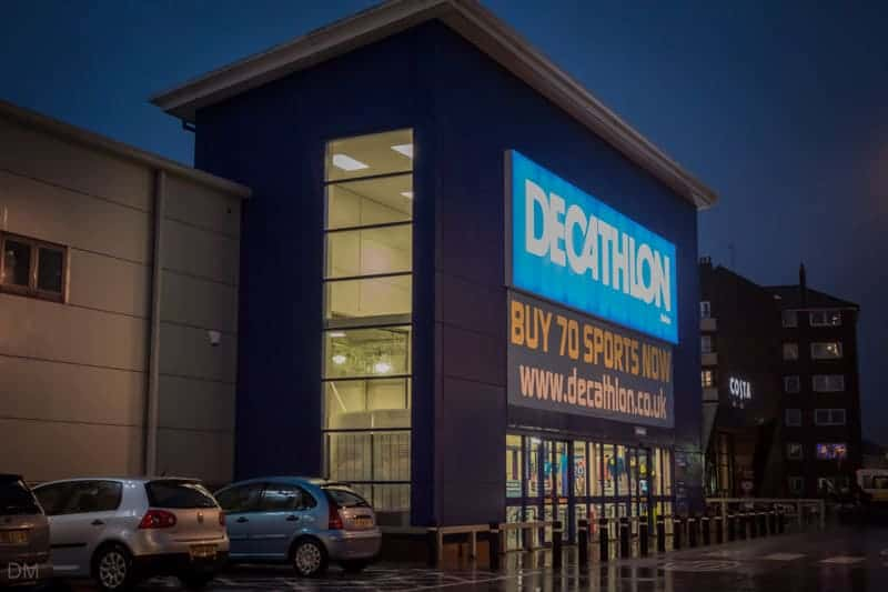 Decathlon sports store at the Bolton Shopping Park
