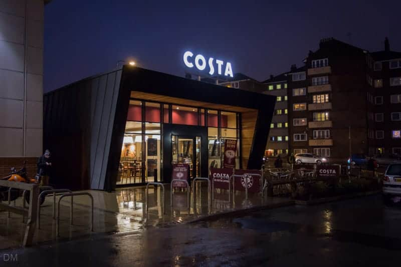 Costa coffeehouse at Bolton Shopping Park