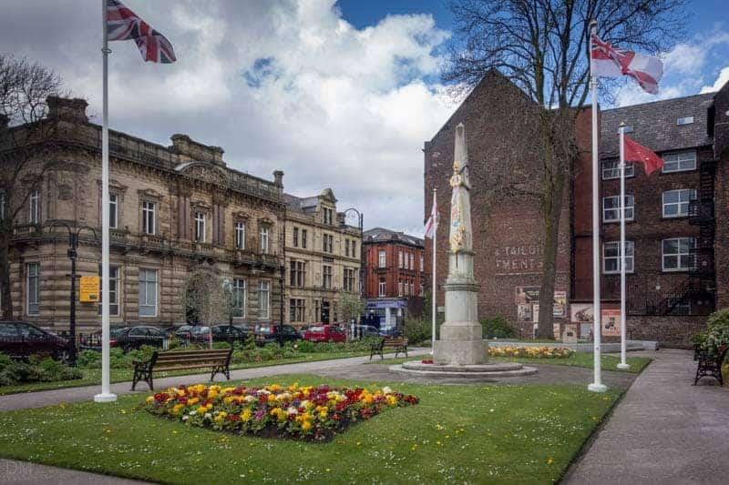 Fusilier Memorial, Gallipoli Garden, Fusilier Museum, Bury.