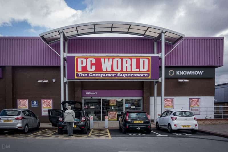 PC World store at Angouleme Retail Park in Bury.