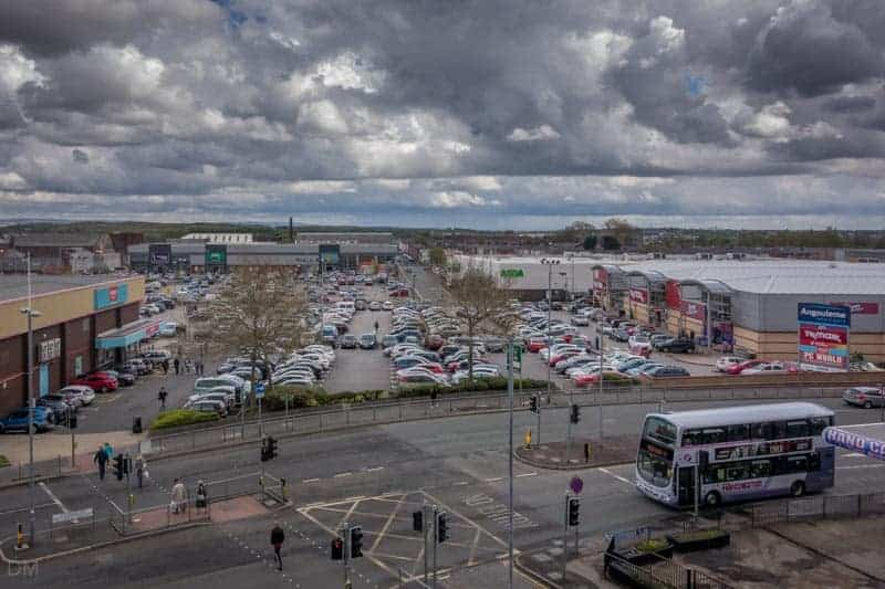 View of Angouleme Retail Park in Bury