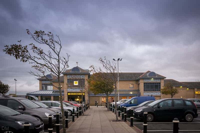 Morrisons supermarket at Central Drive Retail Park in Morecambe, Lancashire
